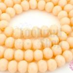 คริสตัลจีน ทรงซาลาเปา สีเปลือกไข่ขุ่น 6มิล(1เส้น)