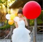 ลูกโป่งจัมโบ้ สีแดง ขนาด 36 นิ้ว - Round Jumbo Balloon Red
