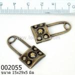 จี้ลูกปัดทองเหลือง รูปกุญแจ 15x29มิล (1ชิ้น)