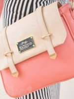 กระเป๋า PG美人 หนัง pu สีชมพูหวาน ขนาดกระทัดรัด