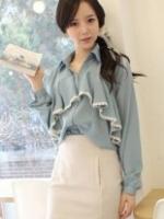 เสื้อสไตล์เกาหลีสีฟ้า