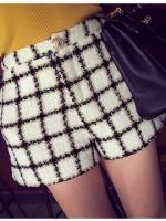 กางเกงขาสั้นลายตาราง