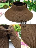 หมวกกันแดดปีกกว้าง หมวกแฟชั่น ม้วนเก็บได้ - Mocha Color