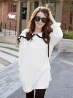 เสื้อสไตล์เกาหลีสีขาว