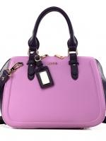 กระเป๋าแฟชั่นหนัง pu เกรด A แบรนด์ axixi สีม่วงอมชมพู-ดำ