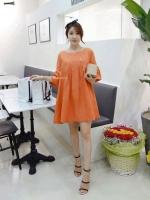 เสื้อกึ่งเดรสสีส้ม