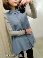 เสื้อแฟชั่นเกาหลีแขนยาว สียีนส์