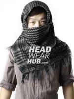 ผ้าพันคอชีมัค : สีเทาดำ