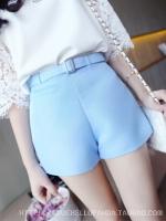 กางเกงขาสั้นสีฟ้า