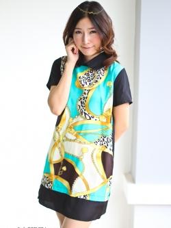 พร้อมส่ง ** มินิเดรส Printed Vintage Mini Dress