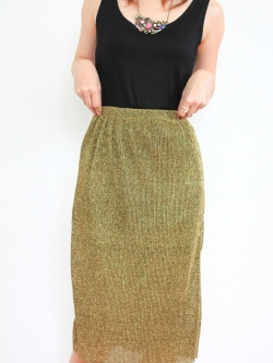 Sparking on You Skirt (gold)