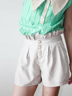 พร้อมส่ง ** Juliet Short Pants กางเกงขาสั้นเอวสูง