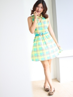 Sweet Grid Dress (green)