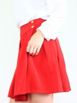 Red Kissed Skirt