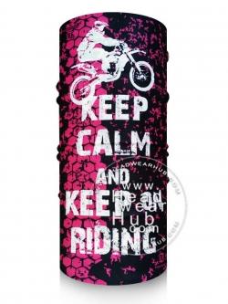 ผ้าบัฟ ผ้าโพกหัว TB1070 KEEP CALM and KEEP on Riding