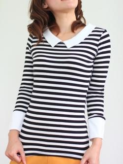 พร้อมส่ง ** เสื้อยืดแขนยาว Stripy long sleeve t-shirt