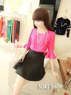 PreOrder ชุดเสื้อ+กระโปรง ** ส่งฟรี EMS เมื่อสินค้าถึงไทย