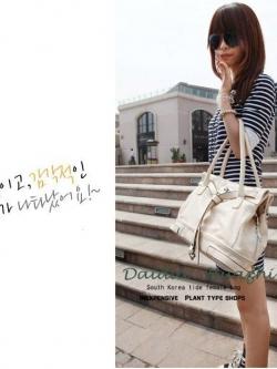 พร้อมส่ง ** กระเป๋าหนัง แบรนด์ Daidai Huazhu สีน้ำตาล