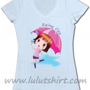 """เสื้อยืดน่ารัก """"ร่มชมพู"""" My Umbrella"""