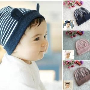 หมวกมีหู สีชมพู น้ำตาล กรม MC25