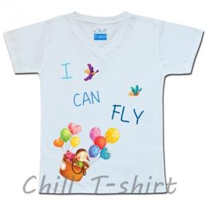 """เสื้อยืดน่ารัก """"I CAN FLY"""""""