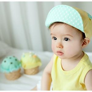 หมวกเด็ก สีเหลือง สีส้ม MC152