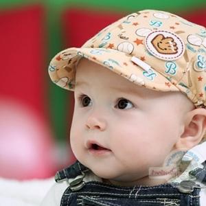 หมวกเด็กลายเบสบอล สีเหลือง น้ำตาล เทา ฟ้า ชมพู MC100