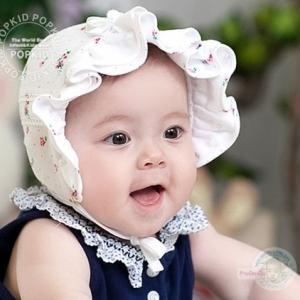 หมวกเด็กหญิงสีขาว เหลือง ชมพู PB37