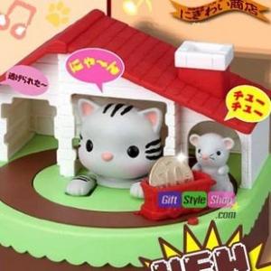 กระปุกออมสินแมวจับหนู Sutakoro Coin Bank PA0115