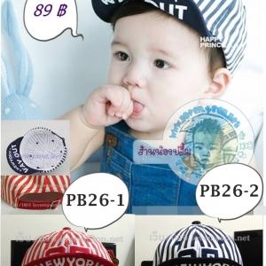 หมวกเด็ก NEWYORK สีแดง สีกรม PB26