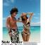 พร้อมส่ง ชุดว่ายน้ำคู่รัก ชุดว่ายน้ำบิกินี่ทูพีซ ลายดอกไม้สีขาวดำ พร้อมผ้าคลุมสวยๆ thumbnail 10