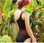 พร้อมส่ง ชุดว่ายน้ำวันพีซไหล่เฉียง สีดำสวย แต่งสวยด้วยผ้าซีทรูช่วงกลางลำตัวสุดเซ็กซี่ thumbnail 3