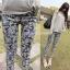 กางเกงผ้าคอตตอนขาวยาว ลาย BOHEMIAN สีดำ : SIZE M รหัส PN181 thumbnail 1