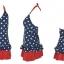 พร้อมส่ง ชุดว่ายน้ำ Tankini เซ็ต 3 ชิ้น เสื้อสีน้ำเงินแต้มจุดขาว กระโปรงระบายสีแดงสวย (เสื้อTankini +บิกินี่+กระโปรง) thumbnail 7