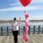 """ลูกโป่งหัวใจจัมโบ้ไซส์ใหญ่ 36"""" Latex Balloon HB Balloon RED 3FT สีแดง/ Item No. TQ-44353 แบรนด์ Qualatex thumbnail 3"""