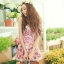 PRE ชุดว่ายน้ำวันพีซ สไตล์วินเทจ floral สวยๆ กระโปรงระบาย ด้านในเปนกางเกงขาสั้น thumbnail 6