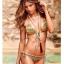 พร้อมส่ง ชุดว่ายน้ำ Bikini ผูกข้าง ลายโบฮีเมียนโทนสีเขียวเหลือง thumbnail 1