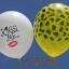 """ลูกโป่งกลมสีขาวพิมพ์ลาย Kiss Me ไซส์ 12 นิ้ว แพ็คละ 10 ใบ (Round Balloons 12"""" - Kiss Me Printing latex balloons) thumbnail 3"""