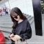 เสื้อแฟชั่นเกาหลี แขนยาว เย็บแต่งแขนเสื้อแบบตะเข็บนอกเก๋ๆ สีดำสุภาพ thumbnail 2