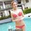 พร้อมส่ง ชุดว่ายน้ำ Bikini ผูกข้าง สีแดงแต้มลายจุดขาวน่ารัก สายคล้องคอ thumbnail 1