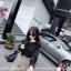เสื้อแฟชั่นเกาหลี แขนยาว เย็บแต่งแขนเสื้อแบบตะเข็บนอกเก๋ๆ สีดำสุภาพ thumbnail 4