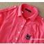 เสื้อเชิ้ตคลุมท้องคอปก สีแดงอ่อน ปักลายตัว R : SIZE XL รหัส SH145 thumbnail 4