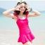พร้อมส่ง ชุดว่ายน้ำวันพีซ สายเสื้อกล้ามแต่งระบายน่ารัก สีสันสดใส กระโปรงระบายด้านในเป็นแบบกางเกงขาสั้น thumbnail 4