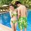 PRE ชุดว่ายน้ำคู่รัก บิกินี่ ลายสวย พร้อมชุดคลุมเอี๊ยม มีฮู้ด thumbnail 6