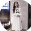 K1123559 เดรสคลุมท้องแฟชั่นเกาหลีโทนสีขาว thumbnail 5
