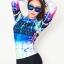 ชุดว่ายน้ำแขนยาว กางเกงสามส่วน เสื้อคัลเลอร์ฟูลสีสดใส เซ็ต 3 ชิ้น เสื้อ+บิกินี่+ขายาว thumbnail 9