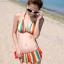พร้อมส่ง ชุดว่ายน้ำบิกินี่ทูพีช สายคล้องคอ กางเกงแต่งระบายสวยๆ thumbnail 3