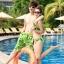 PRE ชุดว่ายน้ำคู่รัก บิกินี่ ลายสวย พร้อมชุดคลุมเอี๊ยม มีฮู้ด thumbnail 9