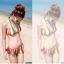 พร้อมส่ง ชุดว่ายน้ำบิกินี่ทูพีช สายคล้องคอ กางเกงแต่งระบายสวยๆ thumbnail 4