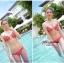พร้อมส่ง ชุดว่ายน้ำ Bikini ผูกข้าง สีแดงแต้มลายจุดขาวน่ารัก สายคล้องคอ thumbnail 2